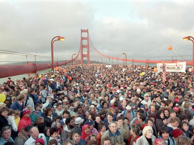 50 ° anniversario del Golden Gate Bridge nel 1987