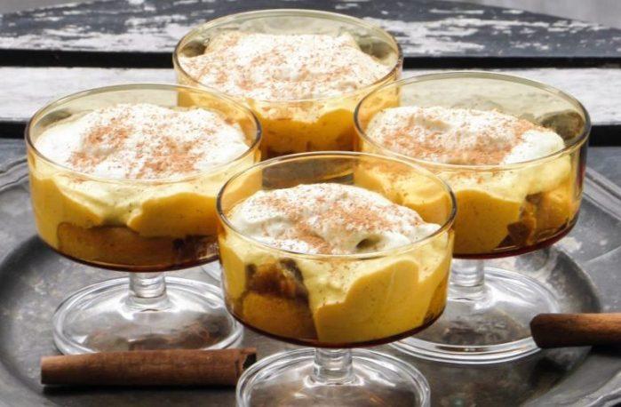 Äppeltiramisu med kanel och muscavadosocker