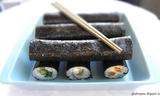 """Sushi """"vegetarisk"""" göra själv"""