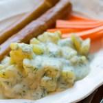 Dillstuvad potatis med wienerkorv