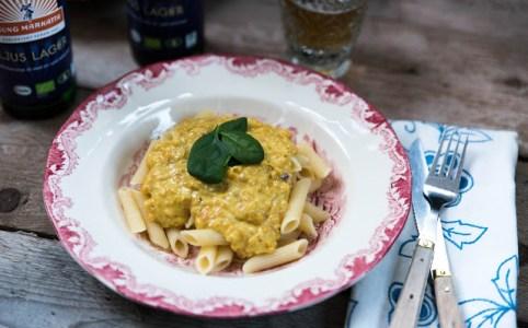 Pastasås pasta pesto linser