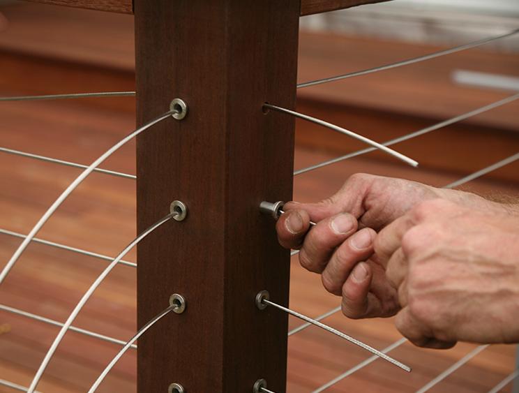 Wire Deck Railing