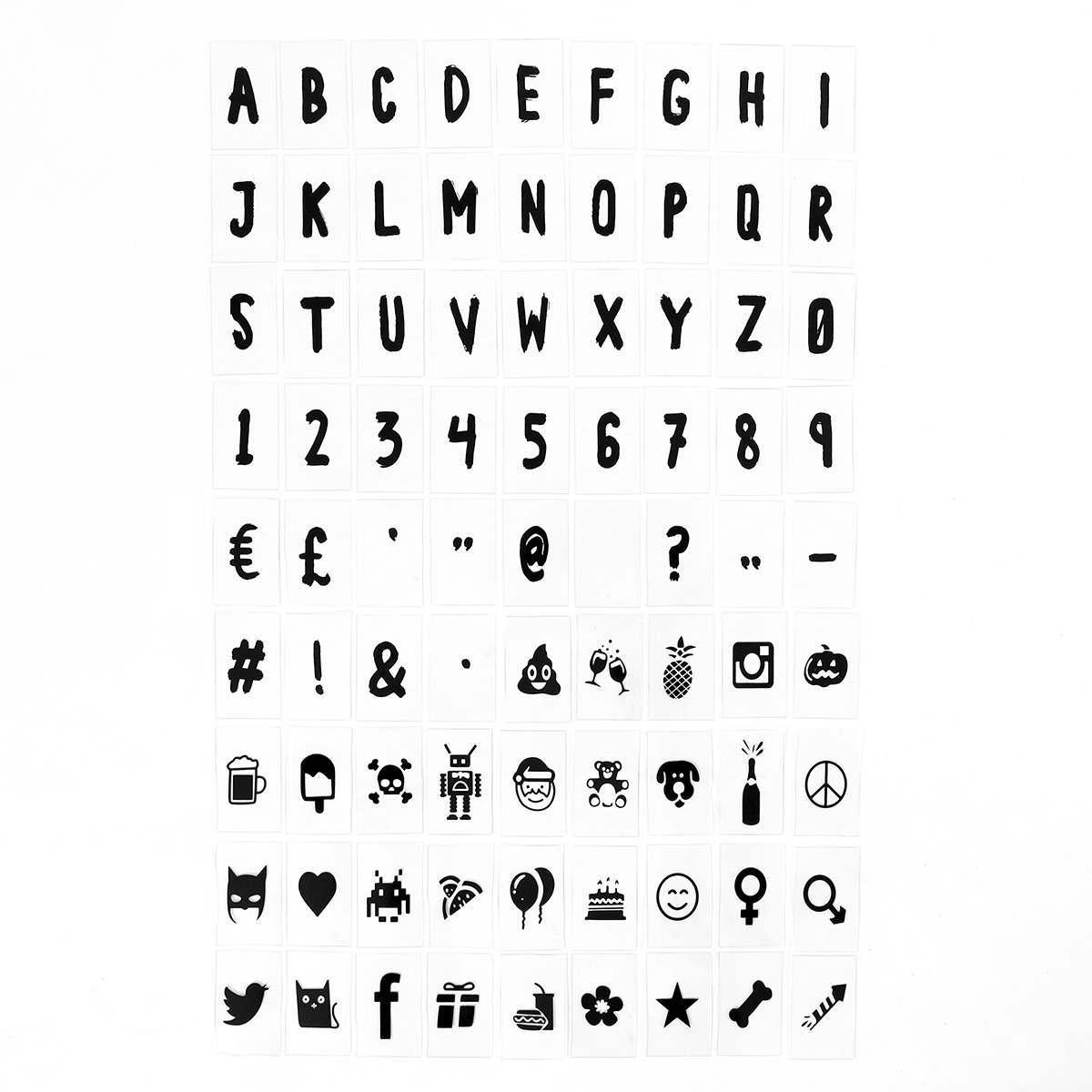 127 Black Brush Stroke Font Letter Number Amp Symbol Pack