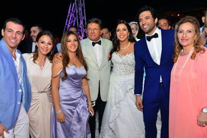 أفضل 38 صورة من حفل زفاف حسن الرداد وإيمي سمير غانم