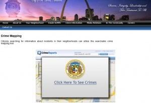 St Louis Metropolitan Crime Mapping Web Site