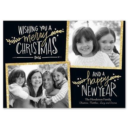 Glitter Wishes Photo Card Fine Stationery