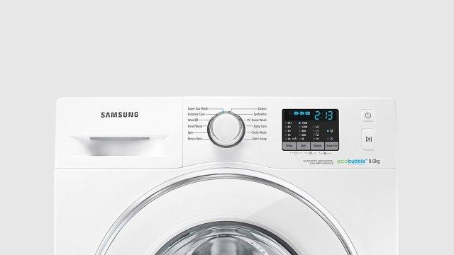 Samsung FRONT LOAD, ECO BUBBLE, WHITE 8 KG (WF80F5E2W4W/FH)