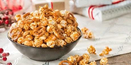 Salted Maple Sriracha Peanut Popcorn