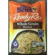 uncle ben s ready rice pouch whole grain brown