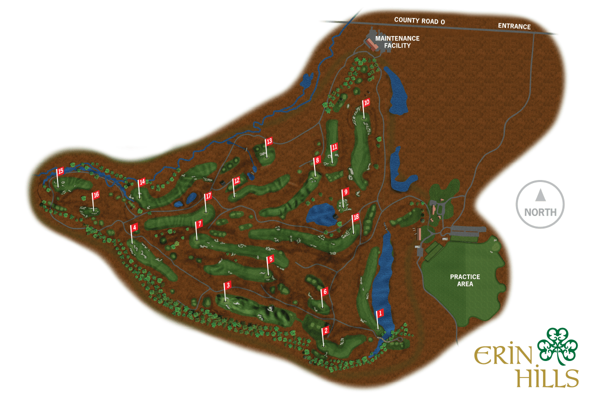 erin hills us open course map