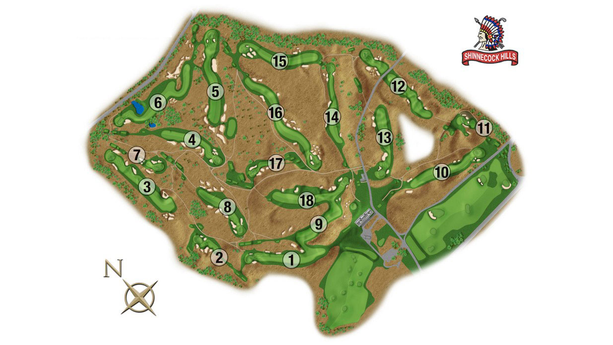 US Open 2018 Course Map Course Overview Holes Latest News FOX