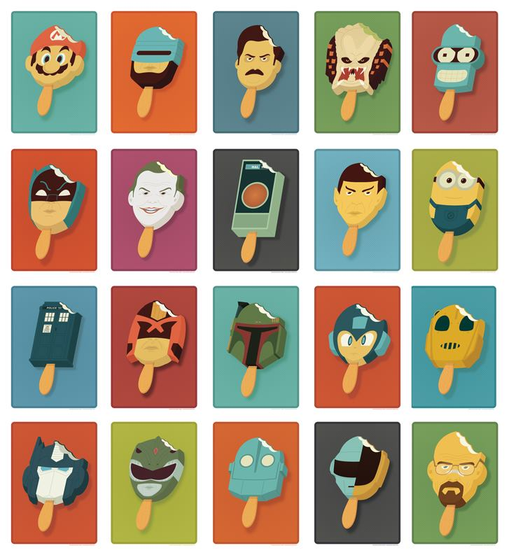 The Amazing Pop Culture Popsicles By Andrew Heath Gadgetsin