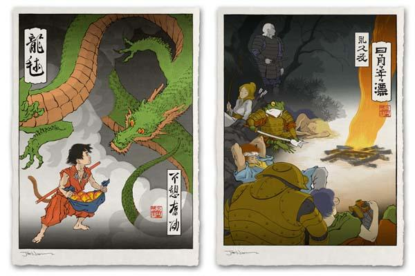 More Ukiyo E Heroes Art Prints Available Gadgetsin