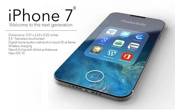 The Concept iPhone 7 with Frameless Design and Digital Home Button