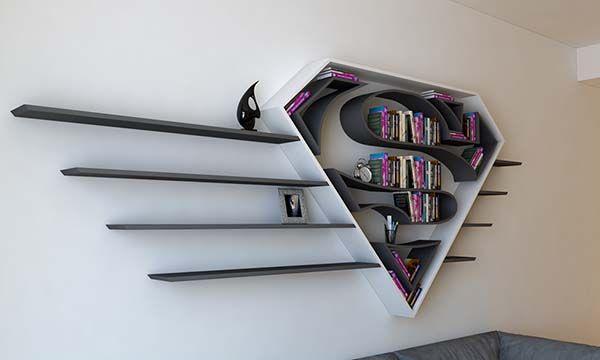 The Concept Bookshelf Inspired By Supermans Logo Gadgetsin