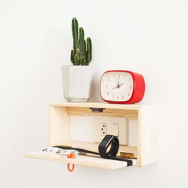 The Handmade Wooden Wall Shelf Fits Over Switch Plates Gadgetsin