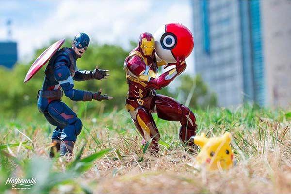 The Awesome Mashup Photos Of Superhero Action Figures By Japanese Photographer Hotkenobi Gadgetsin