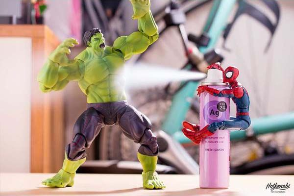 The Awesome Mashup Photos Of Superhero Action Figures By