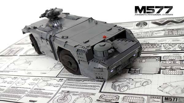 The App Controlled Aliens M577 APC Built With LEGO Bricks