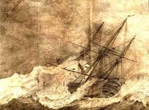 Kopparstick efter Ekebergs teckning i dagboken Ostindisk resa.