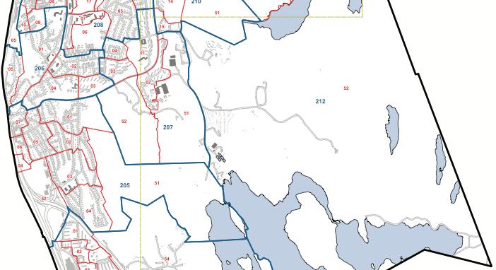 Primärområdena Skår 205 , Överås 206, Kärralund 207, Lunden 208 och Delsjön 212.