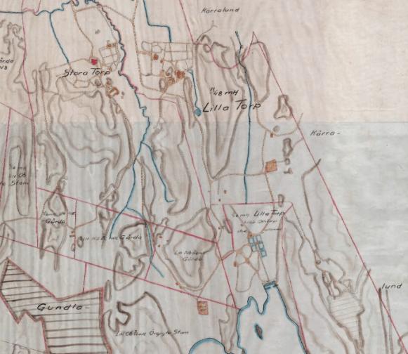 Stora Torp., Lilla Torp och Delsjön 1908