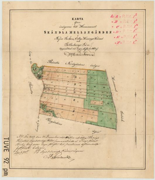 Skändla Mellangården 1867
