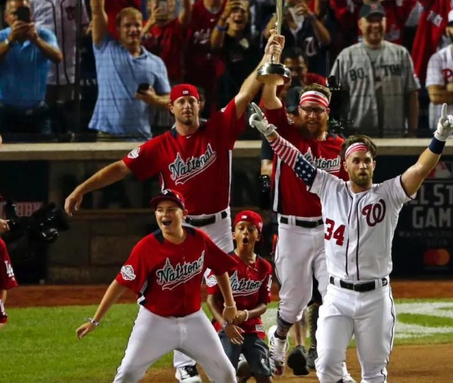 He Flipped A Switch Bryce Harper Rallies For Emotional Home Run Derby Win On Home Field
