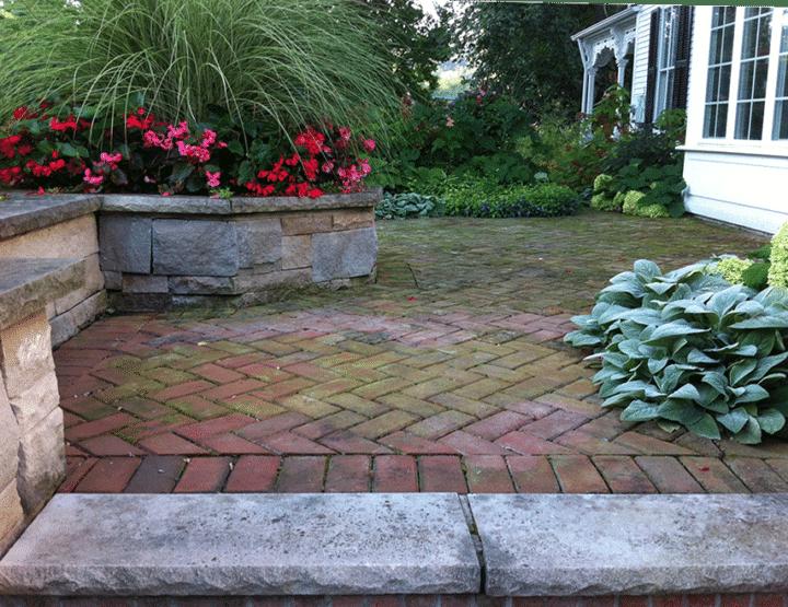using pavers in garden design
