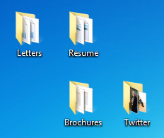 Folders on the desktop