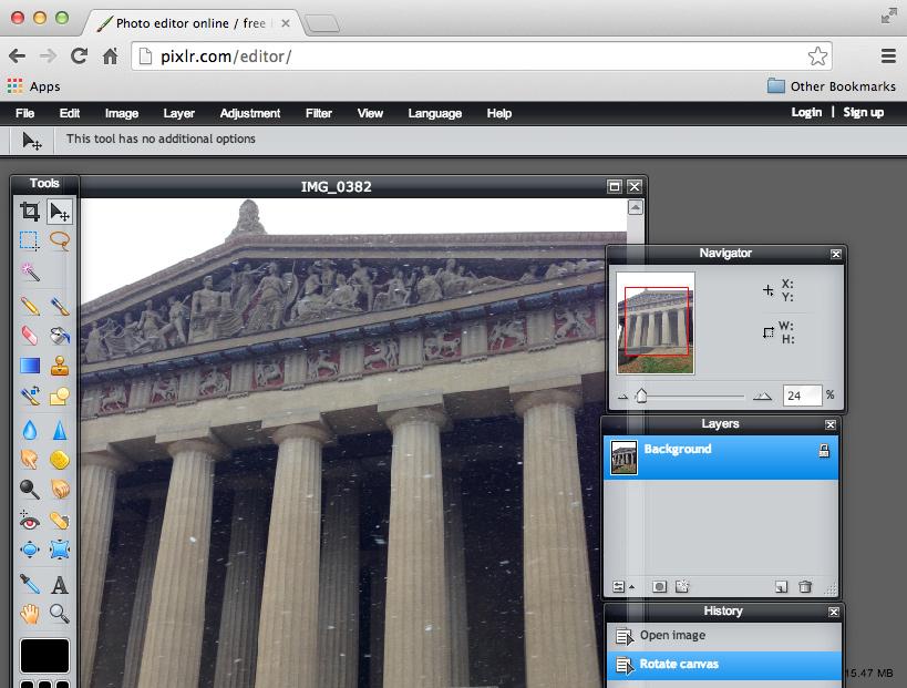 the Pixlr Editor