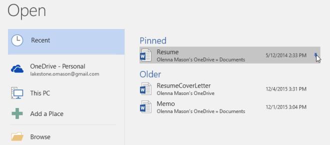 unpinning a document - www.office.com/setup