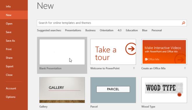 Creating a new presentation - www.office.com/setup