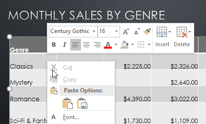 righ-clicking to access the Insert and Delete options - www.office.com/setup
