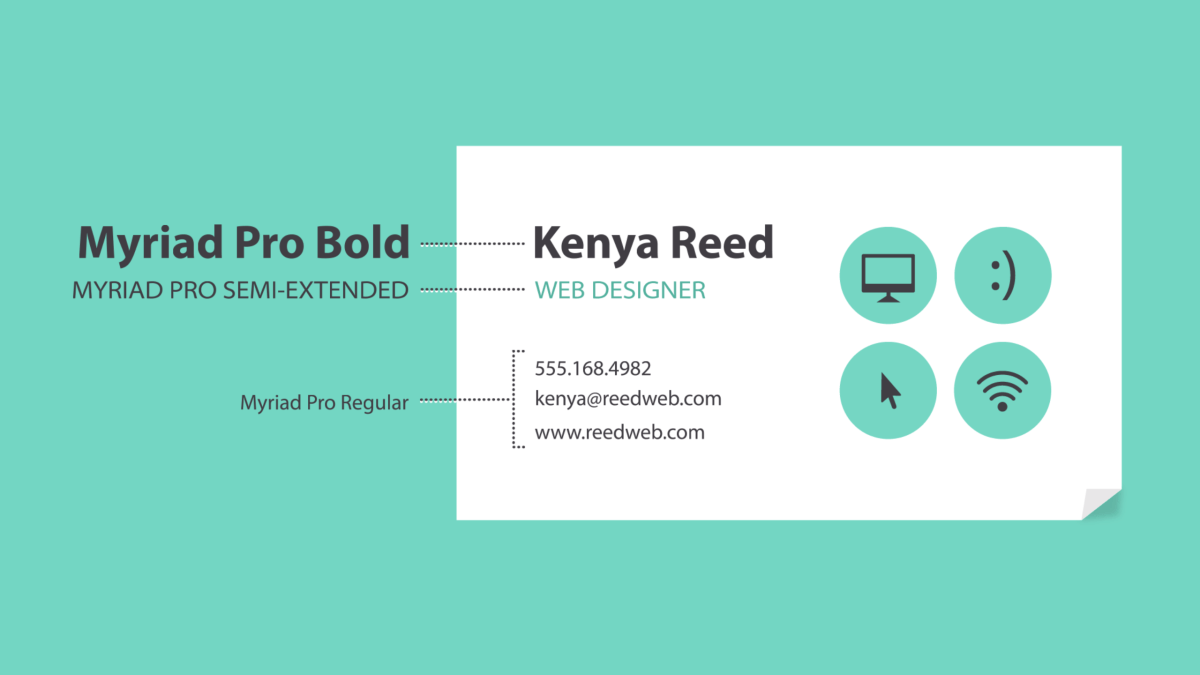 using hierarchy on a business card
