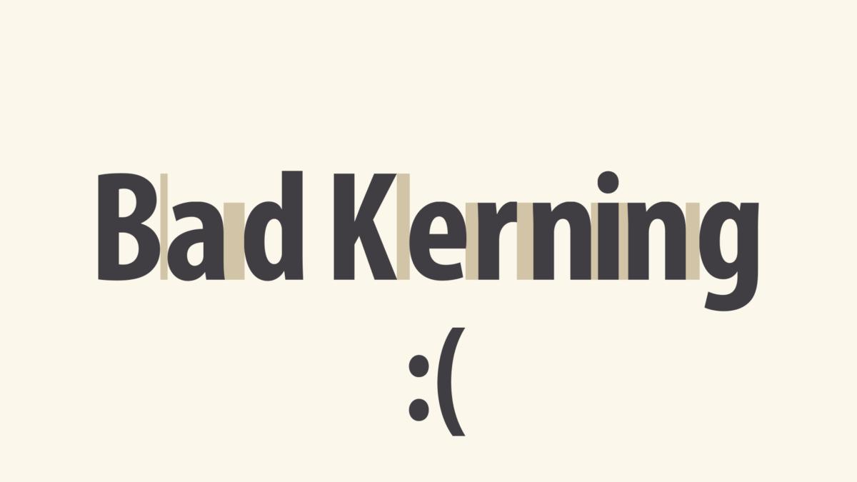 example of bad font kerning