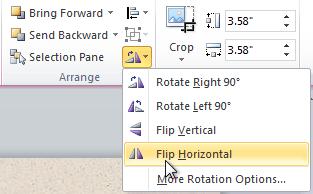 Selecting a rotation option