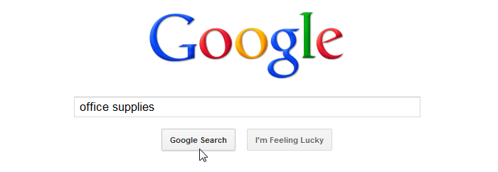 Screenshot of Google