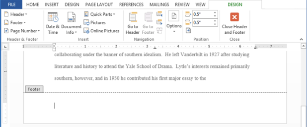 how to create a banner in word