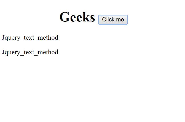 Jquery Text Method