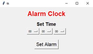 Creat An Alarm Clock Using Tkinter