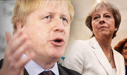 Boris Johnson and Theresa May (PA)