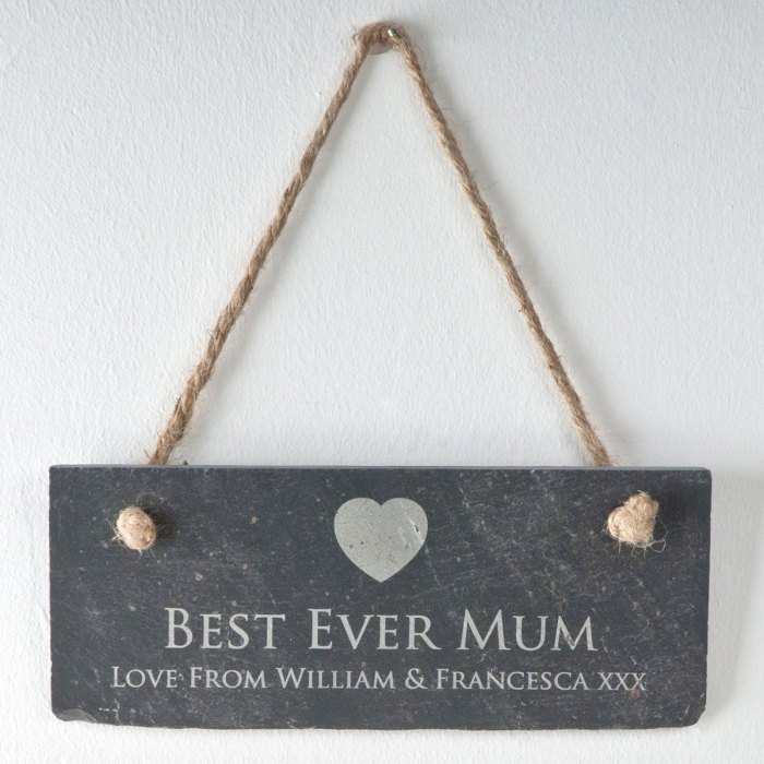 Personalised Hanging Slate Sign
