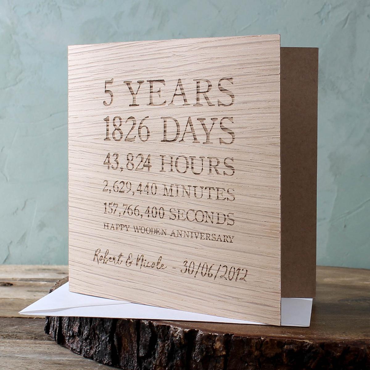 5th Wedding Anniversary Gifts Wood Gettingpersonal Co Uk