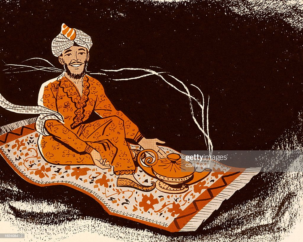 Magic Carpet Stock Illustrations And Cartoons   Getty Images Genie on Magic Carpet