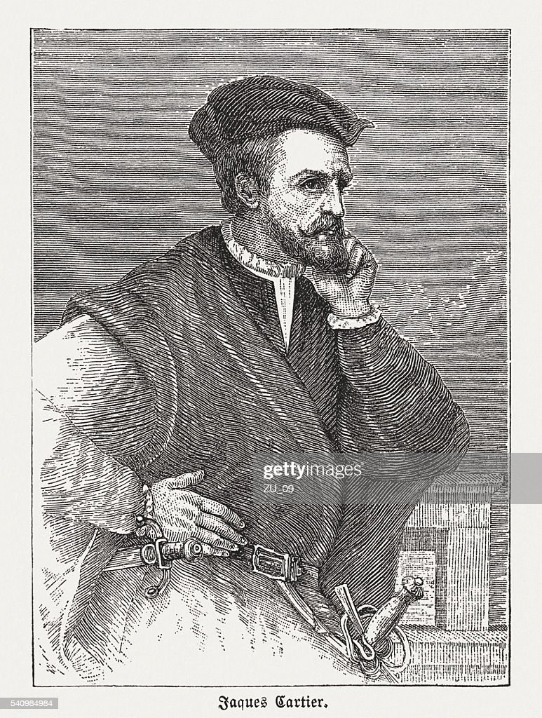 Jacques Cartier Stock Illustrations And Cartoons   Getty Images Jacques Cartier  1491 1557   French explorer  wood engraving  published in