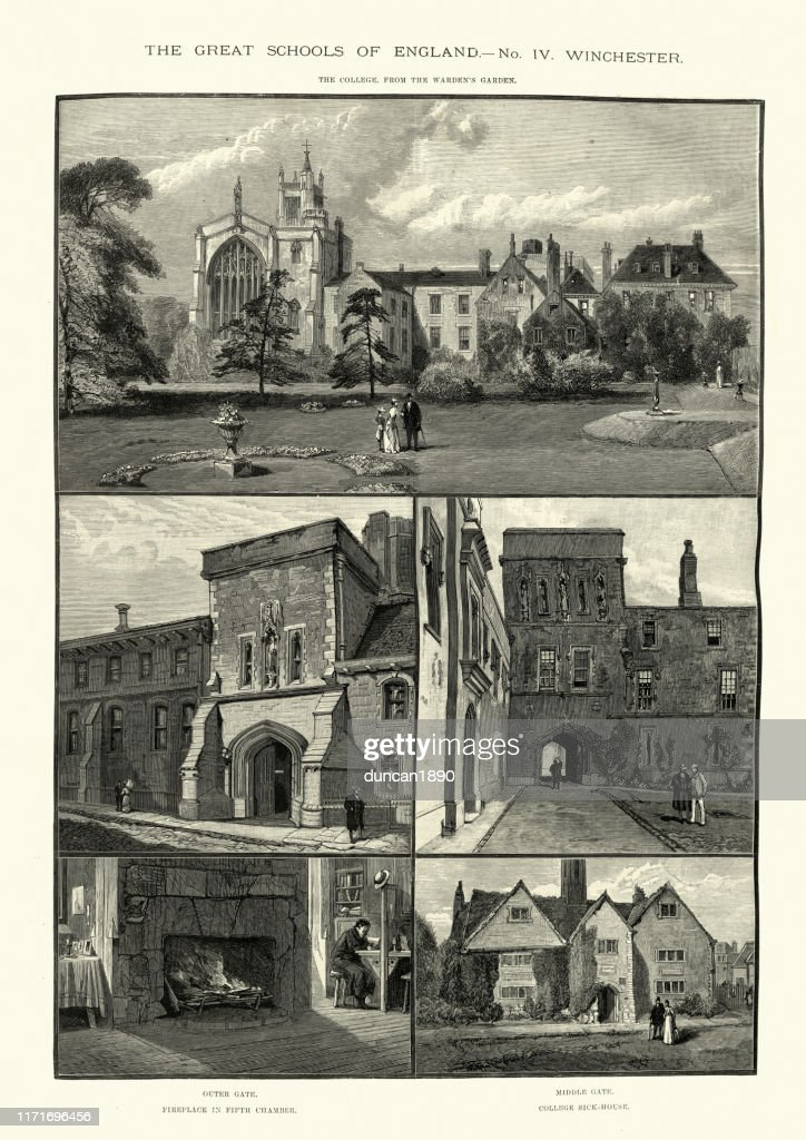 https www gettyimages fr detail illustration views of winchester college england illustration libre de droits 1171696456