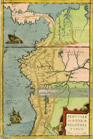 16th century map of South America Pictures   Getty Images 16th century map of South America