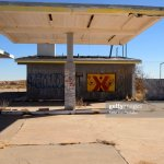 Abandoned Gas Station At Two Guns Arizona Usa High Res Stock Photo Getty Images
