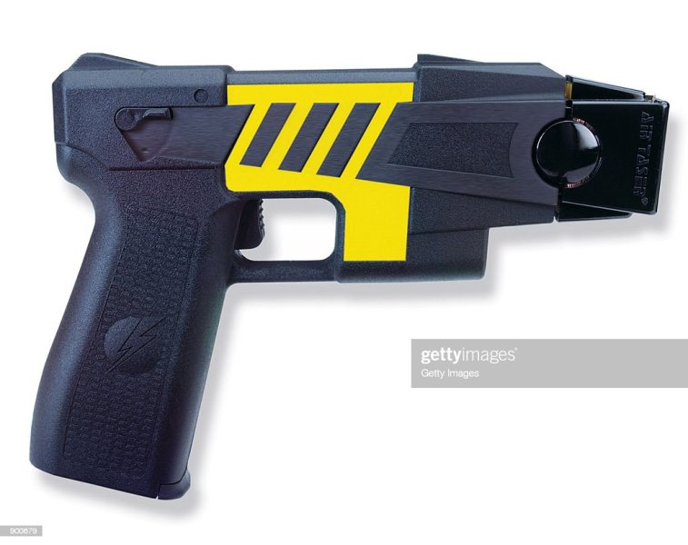 Stun Guns To Be Placed In United Airlines Cockpits Pictures   Getty     An Air Taser stun gun  which has a range of 15 feet and delivers a